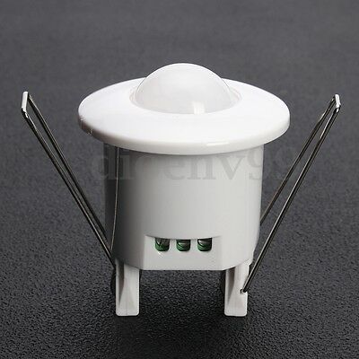 AU 360° Recessed PIR Ceiling Infrared Motion Sensor Detector Light Lamp Switch