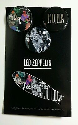 "Led Zeppelin Coda 1.25"" Music Button Pin Set Pack Pinback Lot 3Pcs On One Card"