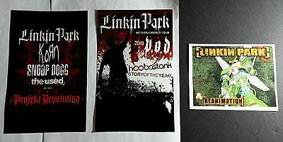 LOT OF 3PCS LINKIN PARK METEORA KORN USED SNOOP DOGG 5.5x8.5 MUSIC POSTER FLYER