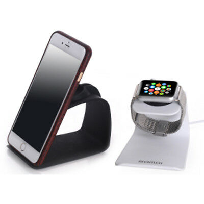 2 in 1 Metal Stand Charging Dock Station Portable Phone Bracket Holder for Watch