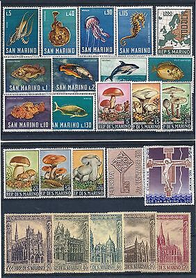 San Marino 1966 to 1968 Selection of Mint Never Hinged