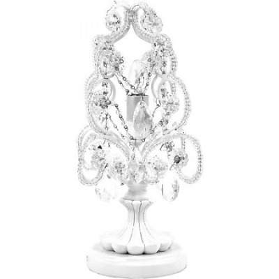 Crystal Chandelier Table Lamp Decorative Lamps Modern Girls Bedroom White New