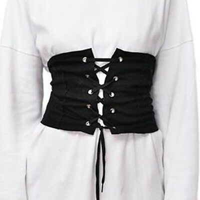 Women Lady High Waist Wide Corset Elastic Slim Abdominal Control Belt Waistband
