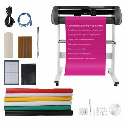 "34"" Vinyl Cutter Sign Cutting Plotter Printer Sticker Craft Cut 3 Blades On Sale"