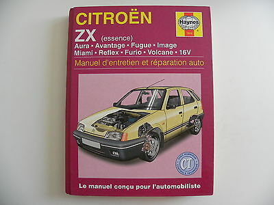 revue technique automobile RTA manuel HAYNES CITROEN ZX essence