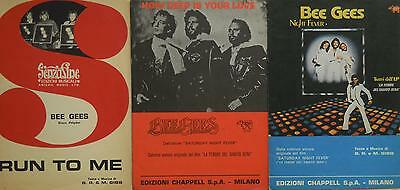 Bee Gees - 3 Music Sheets, Italy. Rare*****