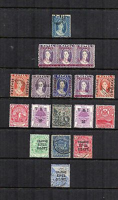Small range of QV Commonwealth on stockcard mint and used