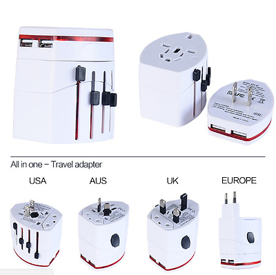 Universal AU/UK/US/EU  International/Travel/World Adapter/Converter Plug Power
