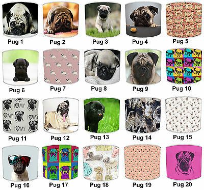 Pug Dog Designs Lampshades Ideal To Match Pug Dogs Pillows & Pug Dog Wall Murals