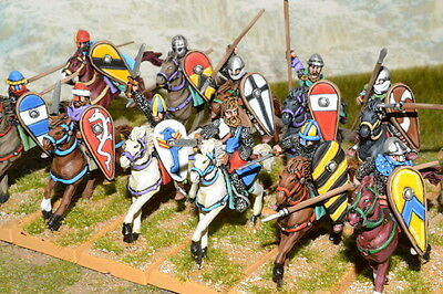 1/56 28mm DPS painted Ancient Norman Knights Cavalry RC402