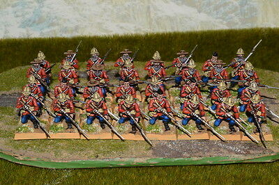 1/56 28mm DPS painted Colonian war Zulu War British Line Infantry, Warlord games