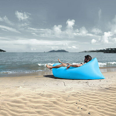 Inflatable Air Bag Lounger Sofa Lazy Bed Portable Chair Sleeping Camping Hiking
