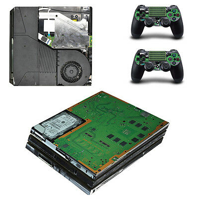 Playstation 4 PS4 Pro Console Skin Sticker New Hardware + 2 Controllers