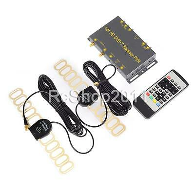 Mobile Digital TV DVB-T Receiver Box Tuner Dual Antenna Car Caravan HD Channel