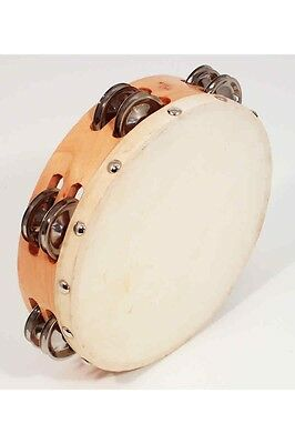 Hide Head Tambourine with Double Jingles