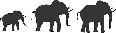 Elephant trio vinyl wall art stickers jungle animal home decor decals murals