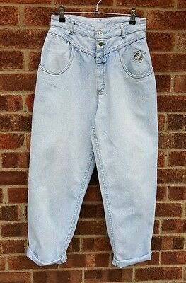 Vintage 80s 90s light blue denim wash Lee high waist mom jeans 28""