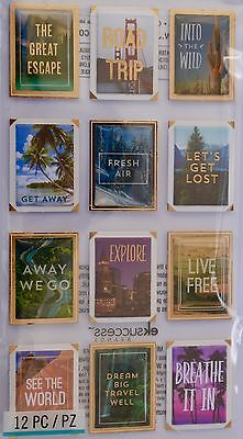 JOLEE'S BOUTIQUE TRAVEL PHOTO POSTERS Craft Scrapbook Stickers Embellishment