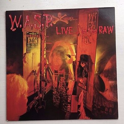 Wasp - Live In The Raw -  Vinyl Lp - Vg+/ex