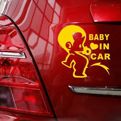 Useful Car Baby In Car Waving Baby on Board Warning Safety Sign Sticker