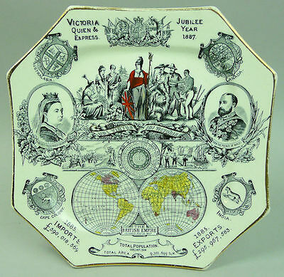 Queen Victoria Golden Jubilee  Pottery Commemorative Plate 1887