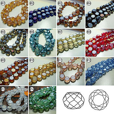 50/100pcs Mixed Color Synthetic Crystal Gemstone Frosted Bread Shape Loose Beads