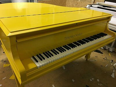 Brand New Yellow Baby Grand Piano