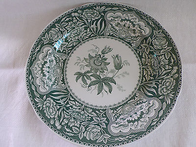 Spode Archive Collection Floral Plate Green 26Cm Made In England