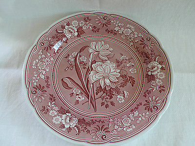 Spode Archive Collection Botanical Plate Cranberry  26Cm Made In England