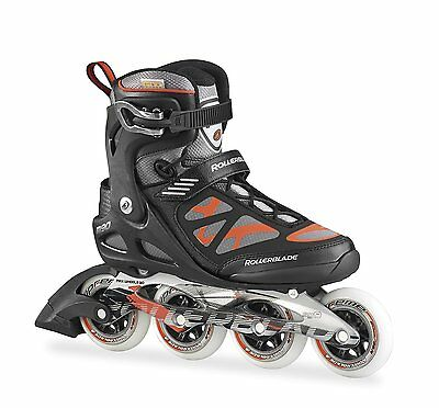 Rollerblade 2015 MACROBLADE 90 High Performance Fitness Skate, Black/Red Men 6