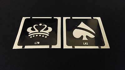 2pc King Queen Glitter Tattoo Stencil Set For Henna Airbrush