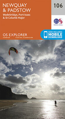 Newquay and Padstow EXPLORER MAP 106 - NEW - ORDNANCE SURVEY
