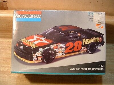 #28 Havoline Ford Thunderbird~1991 Monogram Model Kit #2430~1/24~Factory Sealed