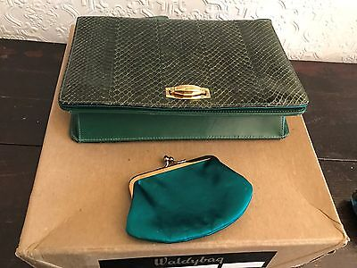 Waldybag Leather Snakeskin Bag - Original In Box With Purse  - Gorgeous!!