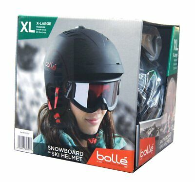 Bolle Vented XL 59-61cm Headsize Sport Snowboard Ski Helmet with Carrying Bag