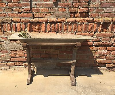 Stunning 1800s Antique Wooden Bowl Dough Salting Trencher With Stand Rustic