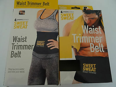 Sweet Sweat Premium Waist Trimmer Belt Slimming Fat Burn Weight Loss Unisex New