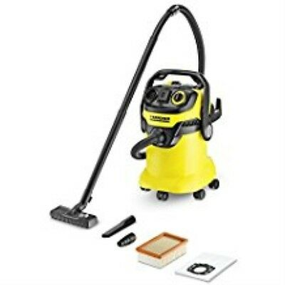 Karcher WD5/P Multi-Purpose Wet Dry Vacuum Cleaner with Semi-Automatic Filter Cl