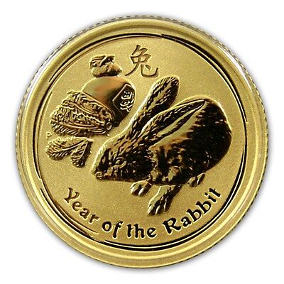 2011 Australian 1/10 oz Lunar Gold Year of The Rabbit Coin  Gift Gift