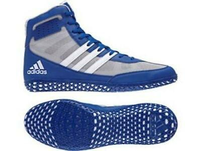 Adidas Wrestling Mat Wizard 3 Blue Boots Shoes Adults - BB3296