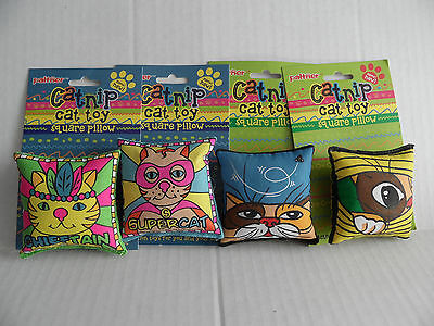 Bright Design Cat Kitten Bag Pillow Kicker Toy with Catnip x 2