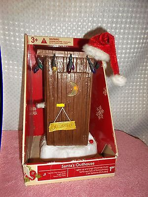 Santa's Farting Outhouse Lights up Santa says 10 Fart Humor phases