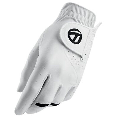 Taylormade Mens All Weather Left Hand Golf Glove - New Leather White Sizes 2017
