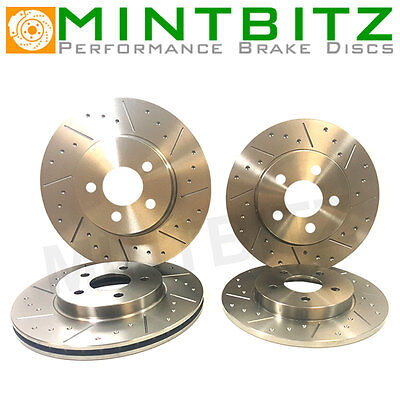 Dimpled And Grooved BRAKE DISCS FRONT REAR FORD SIERRA RS COSWORTH 2WD