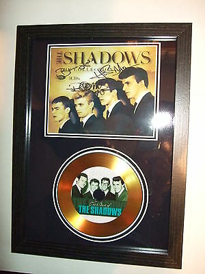 The Shadows   Signed Framed Gold Cd  Disc  557744