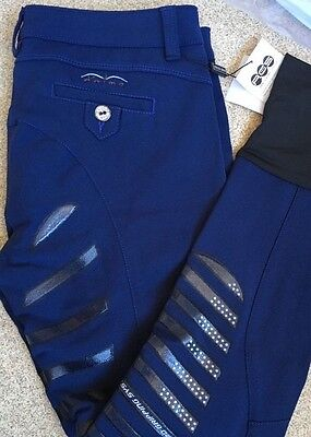Animo Breeches jodhpurs  In Navy With FULL SEAT Gripping I-46. Uk14-16  US14 BN