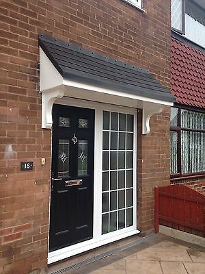 Palermo GRP (Fibreglass) Door Canopy 1700mm Made to Measure  Free Gallows