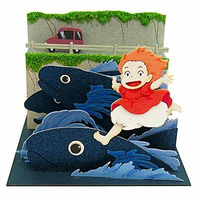 Studio Ghibli Ponyo On The Cliff By The Sea Mp07-39 Paper Craft