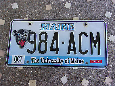 Vintage License Plate Sign Exp 2012 Maine Specialty University of Maine Graphic