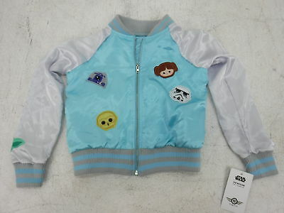 Disney Star Wars Young Girl's Jacket Blue XS 4/5